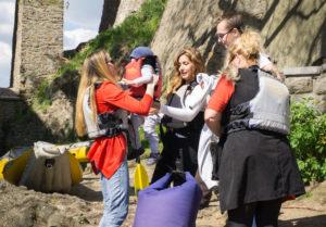 Rodinný výlet na vodě v Českém Krumlově