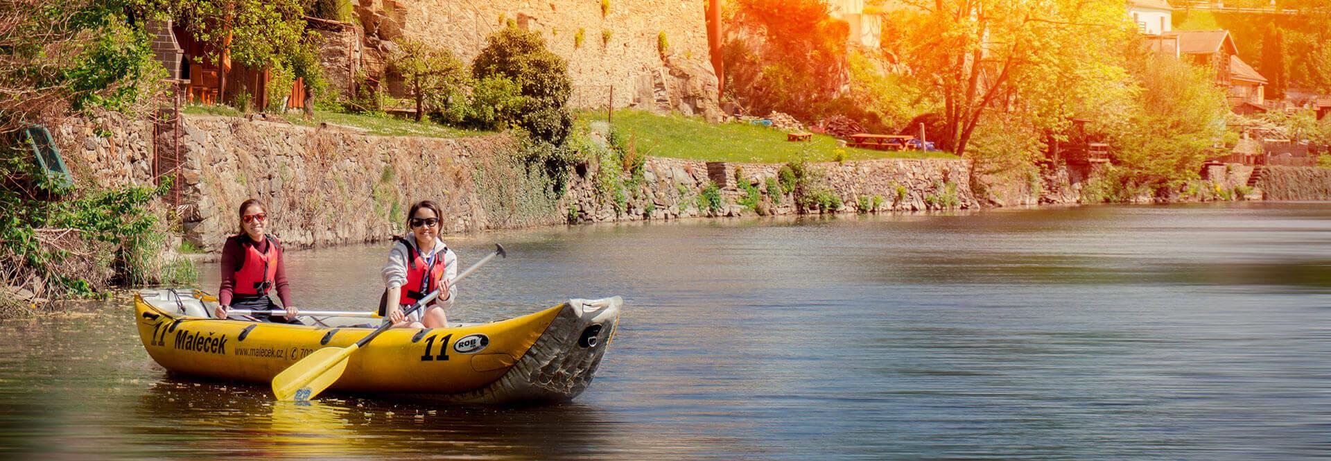 Maleček Rafting - půjčovna lodí Vltava